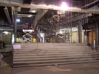 Grand staircase under construction