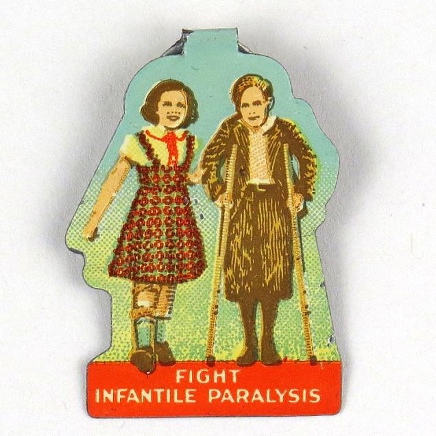 """Fight Infantile Paralysis"" metal button"