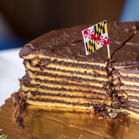 Multiple layer cake