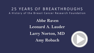 A History of the Breast Cancer  Research Foundation