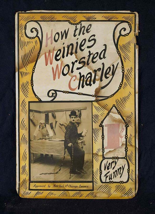 Card with text 'How the Weinies Worsted Charley; 1 cent; Very Funny'