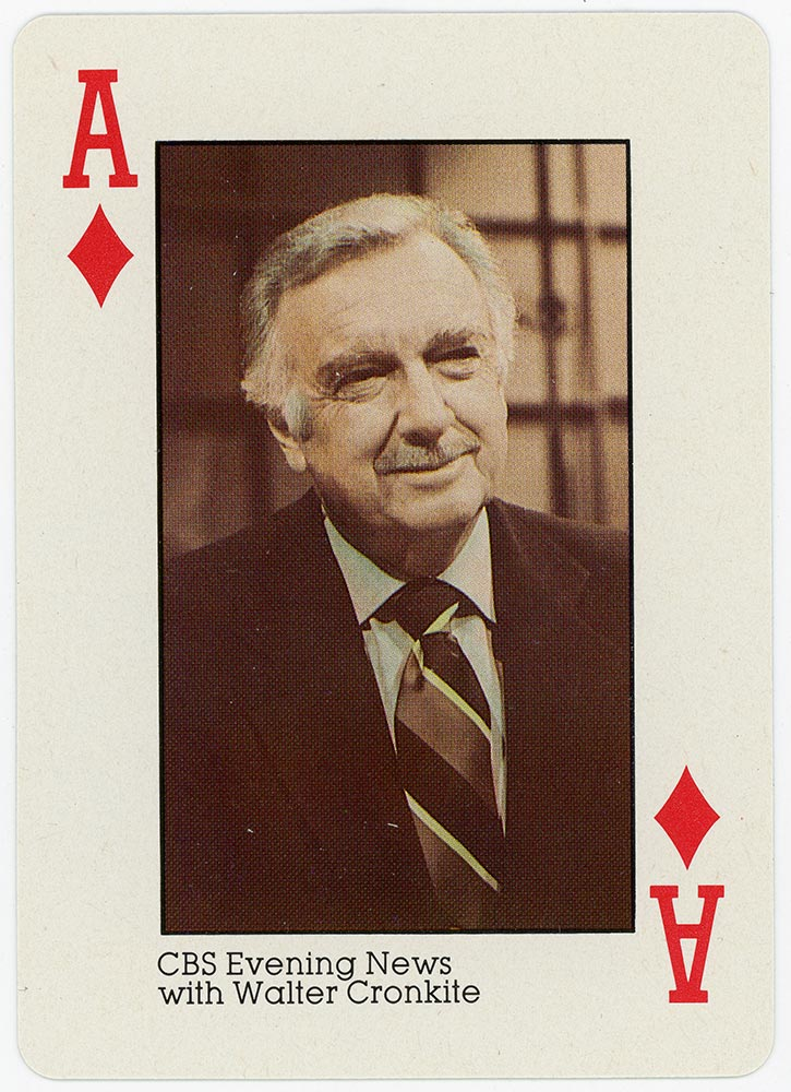 Playing card with face of newscaster Walter Cronkite