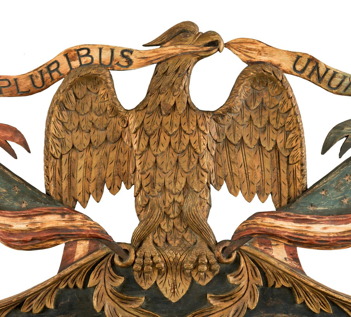 Eagle statuette, around 1850