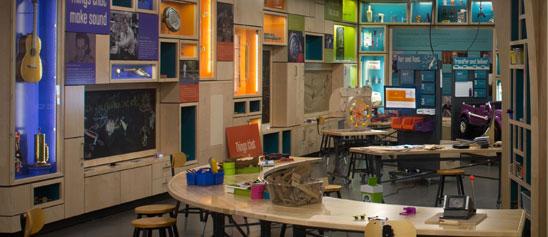 Interior of museum's Spark!Lab