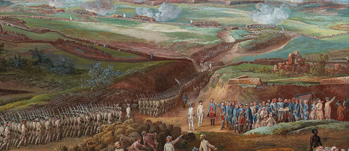 Detail of the painting The Siege of Yorktown