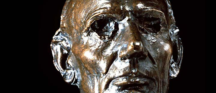 Bronze life mask of Abraham Lincoln