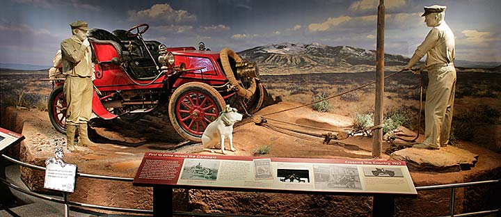 Exhibit scene depicting the first cross-country car trip
