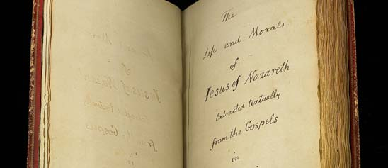 Cover page of Jefferson's Bible