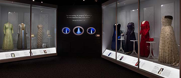 Gowns in The First Ladies exhibition