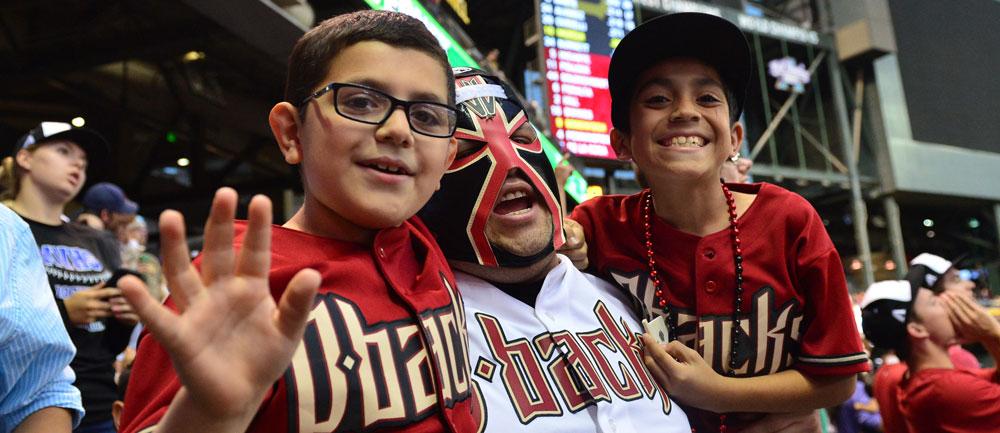 Family enjoys an Arizona Diamondbacks game