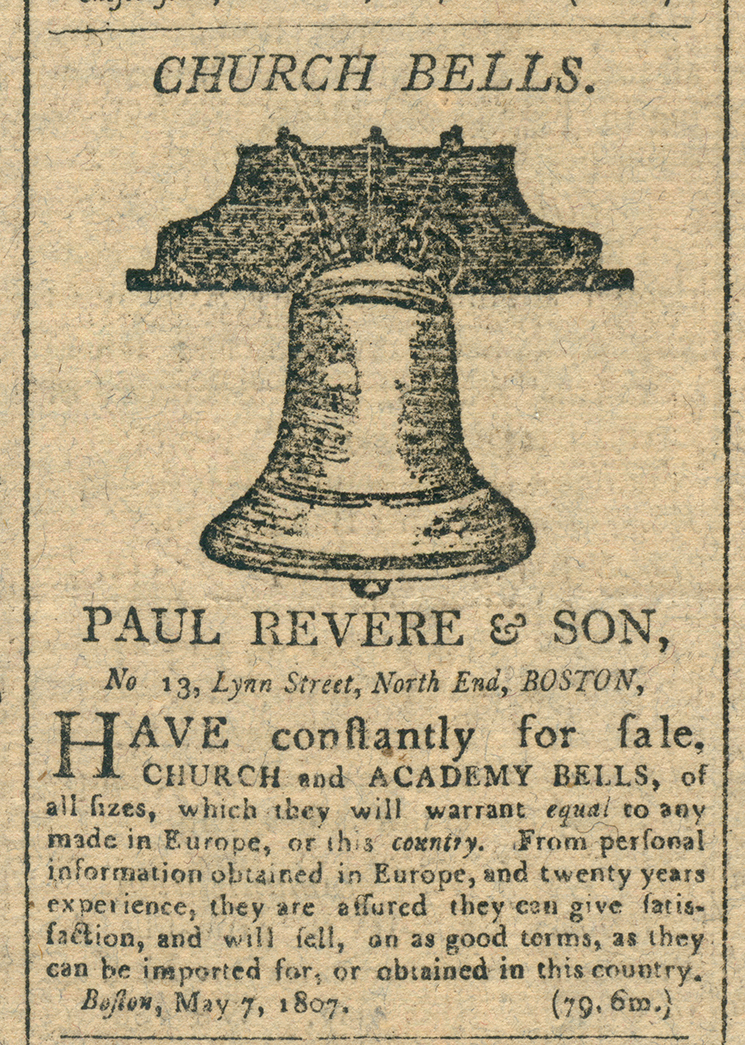 Paul Revere S Church Bell From Quot Religion In Early America