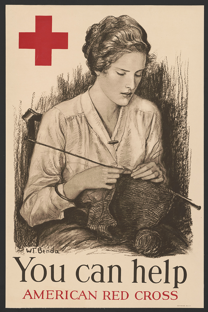 Showing support for the Great War with knitting needles | National ...