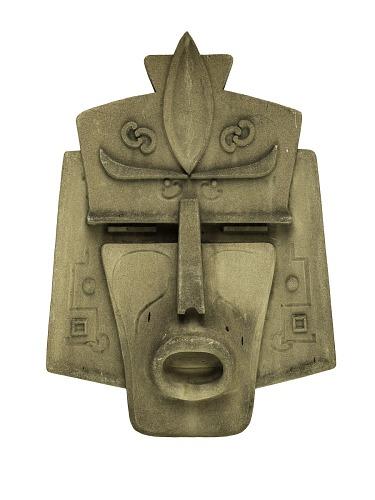 Image of stone Aztec mask