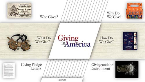 Screenshot of Giving in America interactive