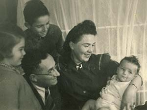Harari as a baby with his family