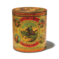 Container of Sheridan's Cavalry Condition Powder
