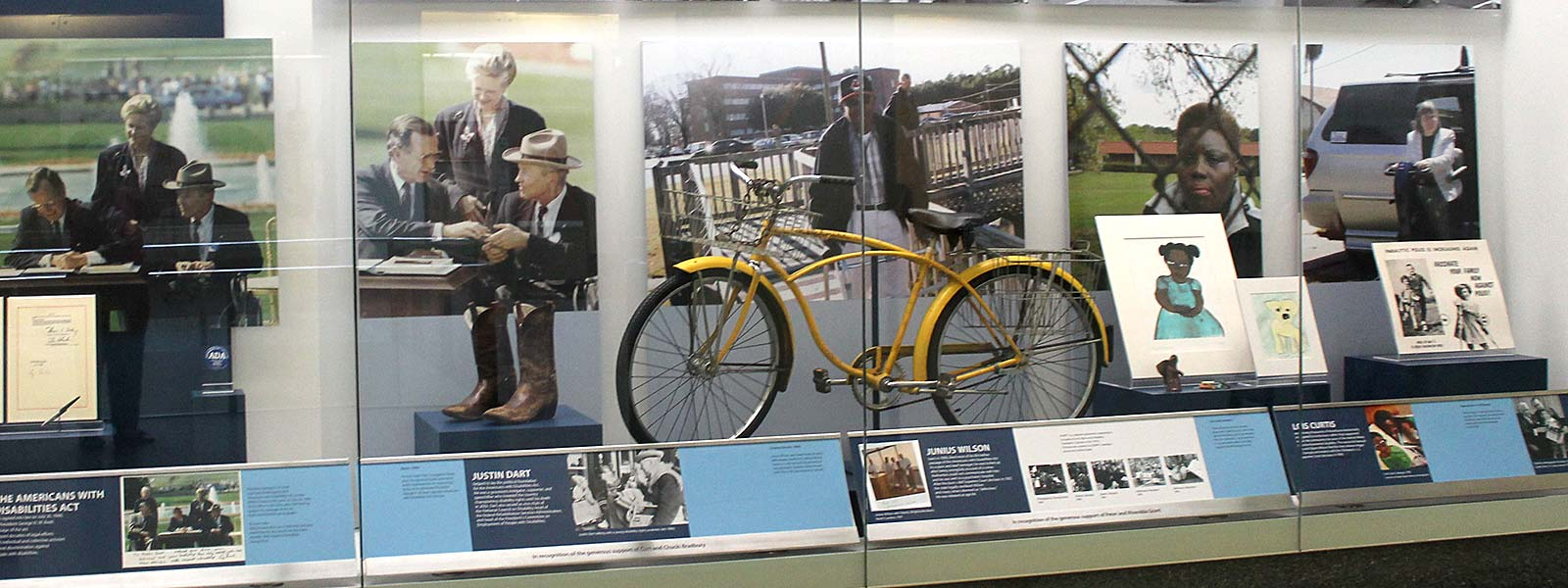 """Americans with Disabilities Act"" exhibit case"