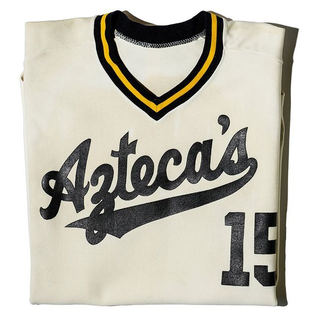 Founded in the 1920s, the Kansas City Aztecas existed for almost a century in various forms as men's and women's baseball and fast-pitch softball teams. This vintage uniform dates back to the team's 1979 season.   Before the color line was broken in Major League Baseball in the 1940s, Latina/o players built a place of their own in independent leagues throughout the United States. Like many of the company and church teams that made up these leagues, the Kansas City Aztecas were founded in the 1920s by players who immigrated to the U.S. Midwest in search of new opportunities in the wake of the Mexican Revolution.   Did you spot the apostrophe on the jersey above? When an apostrophe was accidentally included in the team's name by a printer in the 1970s, the Aztecas decided to keep the misprint for good luck. Swipe above to see how the team's uniform changed over time, or follow the link in our bio today to learn about how Latina/o players have used their team's uniforms to celebrate their community's history and cultural heritage: s.si.edu/suit-up   This Friday, September 17, follow the hashtag #NuestroBaseball to explore how Latina/o players and communities have shaped the history of baseball and softball, both on and off the field.   #HispanicHeritageMonth #HHM #History #AmericanHistory #LatinoHistory #LatinaHistory #LatinxHistory #MexicanAmericanHistory #SportsHistory #BaseballHistory #Textiles #Typography #NuestroBaseball   ¡Pleibol! received generous support from the Cordoba Corporation and Linda Alvarado, and federal support from the Latino Initiatives Pool, administered by the Smithsonian Latino Center   📷: Kansas City Lady Aztecas softball team, Kansas City, Kansas, 1939. Courtesy of Rose Arroyo in memory of Mary Montes / Kansas City Aztecas men's fast-pitch softball team. Shawnee Park, Kansas City, Kansas, 1997. Courtesy of Daniel Salas