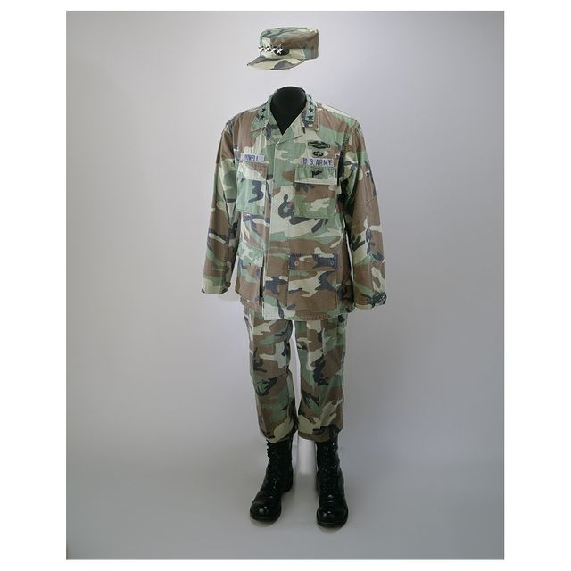 Today, we join in remembering General Colin Powell, who devoted more than 50 years of his life to public service.   This uniform was worn by Powell during Operations Desert Shield and Storm. Powell was the first African American and the youngest person to chair the Joint Chiefs of Staff, from 1989 to 1993.   Powell entered the U.S. Army in 1958 as a commissioned officer and served two tours of duty during the Vietnam War. In the 1970s he held a White House fellowship and attended the National War College. In 1979 he was promoted to Brigadier General and served as the military assistant to the Deputy Secretary of Defense until 1981. In 1981 he assumed command of the 4th Infantry Division. From 1983 to 1986 Powell was military assistant to the Secretary of Defense. In 1986 he served as Commander of the V Corps in Western Europe, and the next year, was named Assistant to the President for National Security Affairs. The following year, Powell became President Ronald Reagan's National Security Advisor. In 1989 Powell became a four-star General and was named Chairman of the Joint Chiefs of Staff, the youngest officer and first African American to hold the position. He had an important role in planning the American invasion of Panama in late 1989. He would further oversee the nation's involvement in the Middle East with Operations Desert Shield and Desert Storm, and later Operation Restore Hope before retiring from the army in 1993. Powell was appointed Secretary of State by President George W. Bush in 2001, becoming the first African American to hold the post.  #AmericanHistory #History #AfricanAmericanHistory #MilitaryHistory