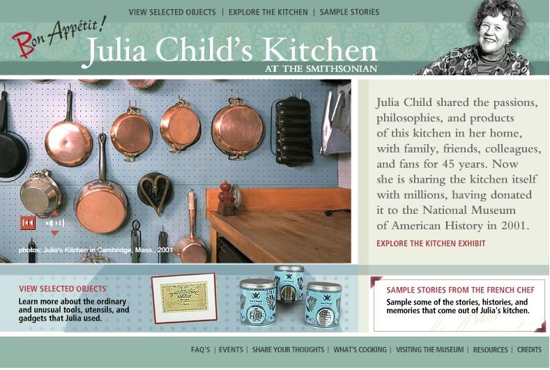 Screenshot of Julia Child website