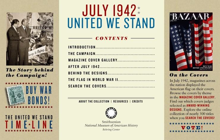 Screenshot of July 1942 website