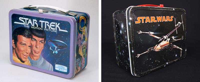 Star Trek and Star Wars lunchboxes