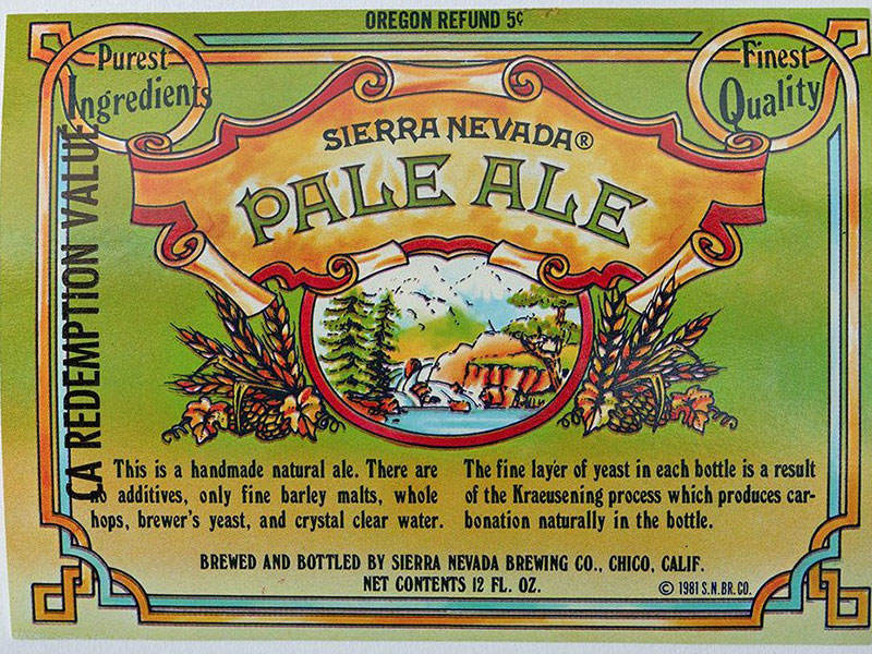 A green label with Sierra Nevada's logo.