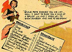 Close-up of Eisenhower comic book