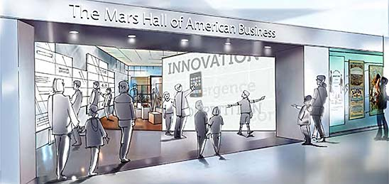 Entry to Mars Hall of American Business