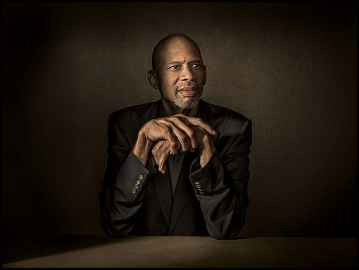 Sitting portrait of Kareem Abdul-Jabbar
