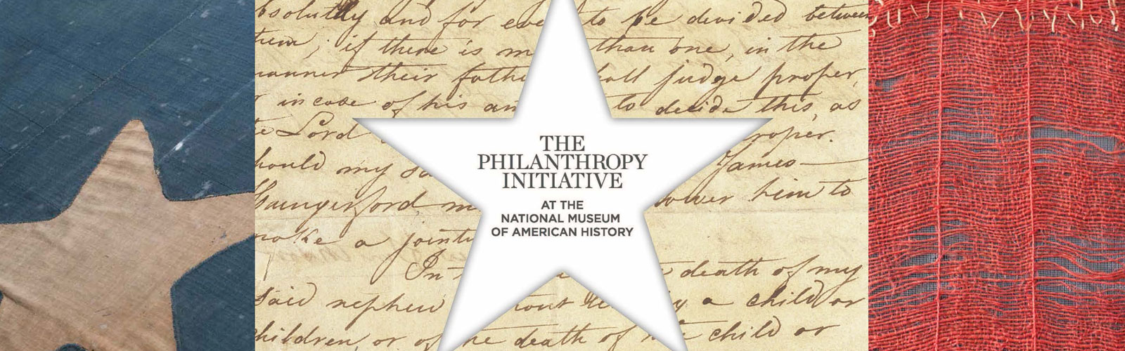 Graphic banner: The Philanthropy Initiative at the National Museum of American History