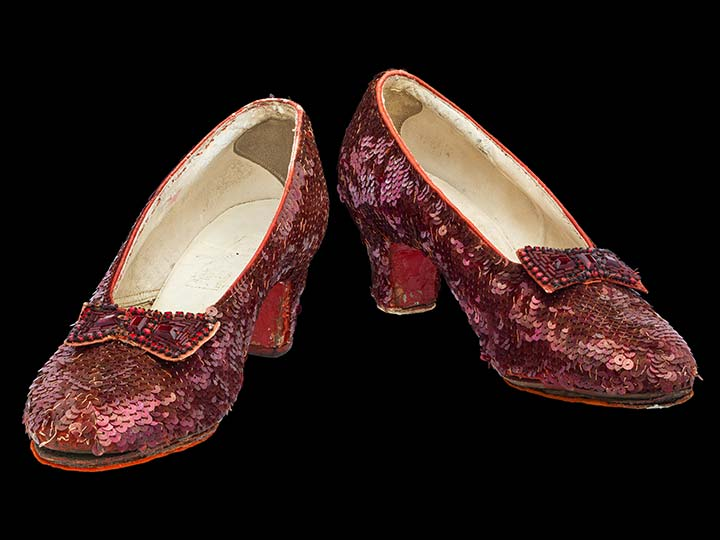 Costume sequined shoes from the Wizard of Oz
