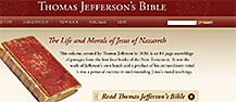 "Screenshot of website for exhibition, ""Thomas Jefferson's Bible"""