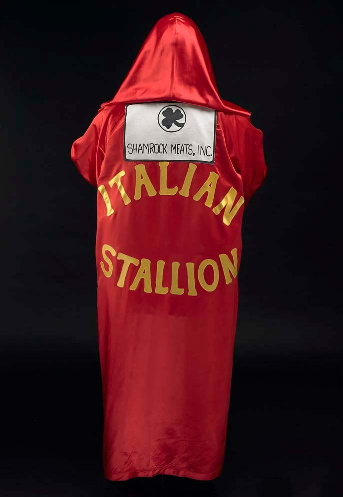 Robe with lettering, Italian Stallion