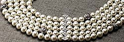 5-strand faux pearl necklace