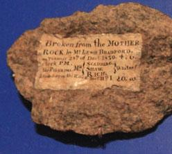 Fragment of Plymouth Rock