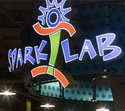 Photograph of the exterior of the museum's Spark!Lab
