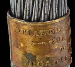 Souvenir section of transatlantic cable, 1866, packaged by Tiffany & Co