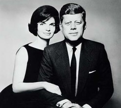 Photo of John F. and Jacqueline Kennedy, by Richard Avedon