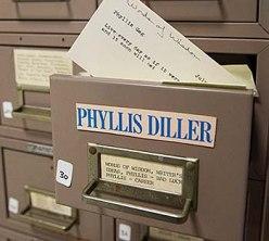 Phyllis Diller's joke file