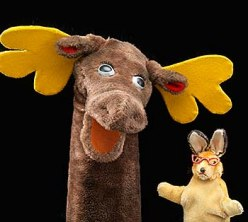 Mr. Moose and Bunny Rabbit puppets from Captain Kangaroo