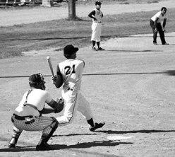 People playing a baseball game