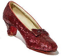 Costume shoes from 'The Wizard of Oz'