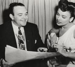 George Sidney reads a script with Lena Horne