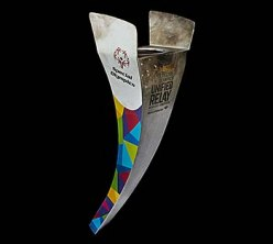 Torch with Special Olympics logo