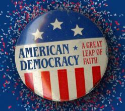 American Democracy button