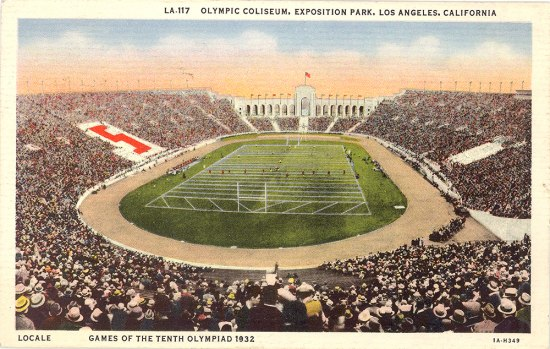 An illustration of a large stadium that is filled with people watching an event