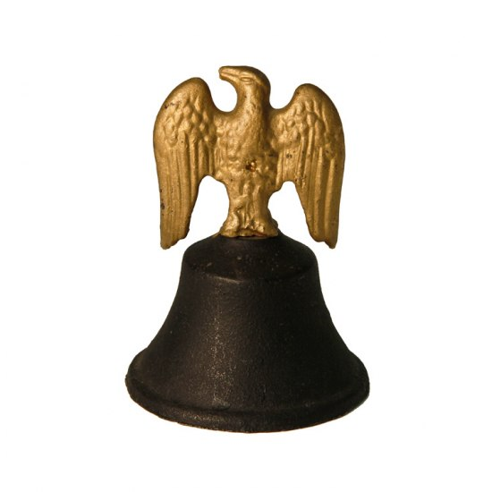 Cast iron bell with eagle handle