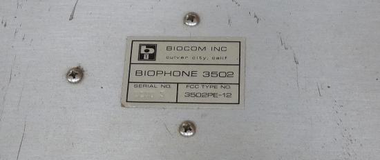 Photo of label
