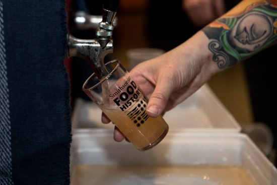 Beer glass filling at tap